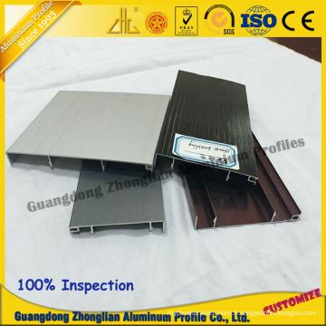Chine Aluminium fabrique des fournitures Stocked Profil de placard de contournement