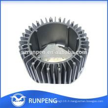 Base d'éclairage en aluminium de moulage mécanique sous pression