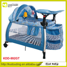 Comfortable blue baby playpen
