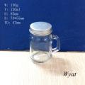 120ml 4oz Glass Mason Jar with Handle and Screw Metal Lid