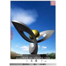 Moderne große berühmte Kunst Abstrakte Edelstahl Skulptur für Gartendekoration