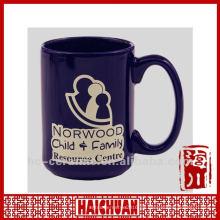 Taza de café de la porcelana 16oz, tazas de café grandes
