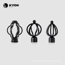 KYOK mature processing good texture metal curtain rod finial