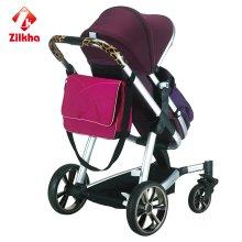 Carrinho de criança de bebê para moldura + assento regular + colcha de pé + Mamabag