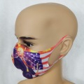 Wholesale factory personalized Trump face scarf American flag polyester air layer fashion face guard veil