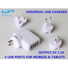 Mini 4 in 1 USB-Ladegerät (Faltender US-Stecker) Reiseladegerät USB-Adapter