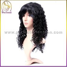 оптовая продажа с бесплатная доставка блондинка афро кудрявый вьющиеся полный парики шнурка