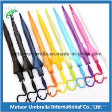 Abóbada Forma Fancy Colorido Plástico PVC Poe Transparente Limpar Umbrella