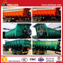 2 Axles Dump Semi Trailer Truck with Air Suspension Trailers