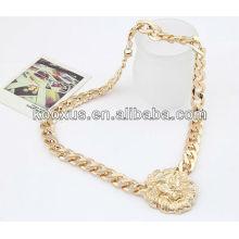 Hot!!!!Golden lion head men's necklace wholesale