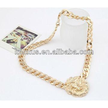 Горячее !!!! Золотое ожерелье мужских головных мужских ожерель оптом