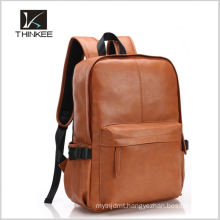 Italien vegetable tanned leather hides men backpack