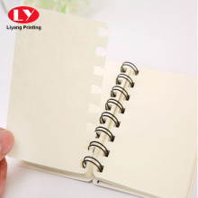 Notebook quotidiano personalizzato con anello di plastica