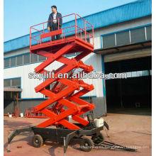 Elevador de tijera hidráulico portátil de 8 m