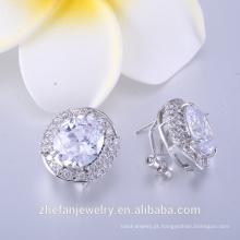 Brincos de prata esterlina 18k banhado a ouro jóias da moda