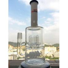 3 Duschkopf und Inline Glas Wasserrohr