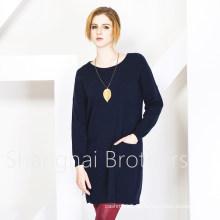 Frauen Rundhals Cashmere-Pullover (16brss113)