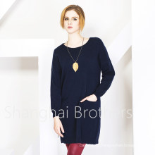 Women′s Round Neck Cashmere Sweater (16brss113)