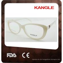 Neue Designerbrillenfassungen, optische Metallrahmen mit breiten Acetatbügeln