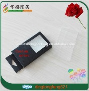 2016 fashion luxury cheap price custom print paper box with hanger and clear tray for artware