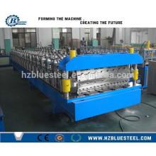 Zwei Profile Metallblech Rollenformmaschine / Doppelschicht Aluminium Dachblech Rollenformmaschine