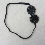 Hot Sale Flowers Hair Band For Black Rhinestone Flower Elastic Headband Christmas Gift