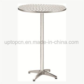 Al aire libre de acero inoxidable alta mesa para bistro al aire libre (SP-AT370)