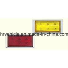 Lámpara rectangular de marcos laterales para camiones Remolques
