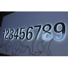 Metal 3D e letras de acrílico sólido e números