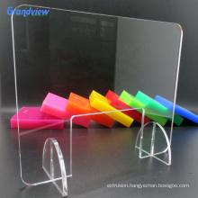 Custom size clear transparent acrylic counter guard desk divider/separator