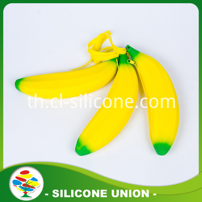 Banana Silicone Coin Purse And Pouch Pencil