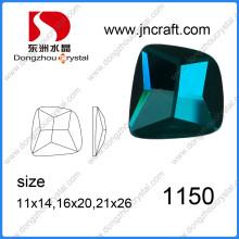 Fornecedor da China Promocional Brilhante Dz-1150 Esmeralda cor grânulos de cristal irregular para sapatos