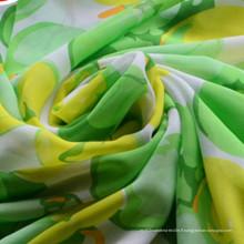 Tissus 100% polyester en mousseline de soie