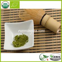 Thé vert biologique organique de l'OMI, thé vert matcha, thé vert