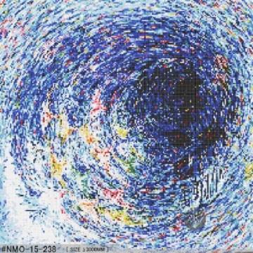 Стеклянная Мозаика Черный Синий Вихрь Картина Маслом Настенная