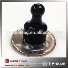 Hot sale neodymium black magnetic push pin