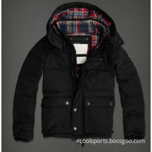Waterproof Down Jacket Black Winter Coat Cotton