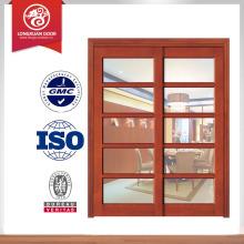 Porta de madeira de alta qualidade, design de porta de celeiro deslizante