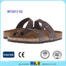 Vente chaude étudiant chaussures en plein air Cork pantoufles