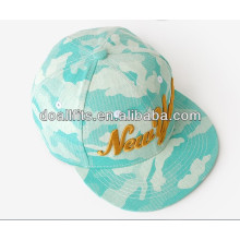 high quality digital print flat brim caps made in china