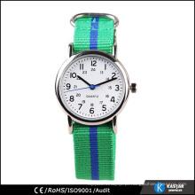 Relógio de fita de nylon para menina