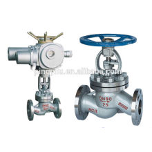 Motorized globe valve PN16-PN100 globe valve drawing