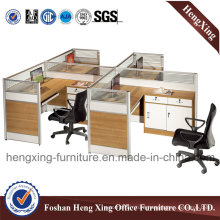 4 Seat Factory Price Office Partition with Pedestal (HX-PT630)