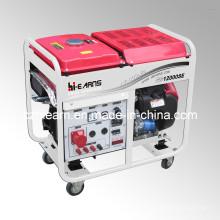 Générateur d'essence à deux cylindres à air comprimé 8kw avec roues (GG12000E)