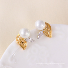 Mutilcolor Plated Pearl Fashion Earring (23773)