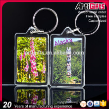 Artigifts Wholesale Blank Clear acrylic photo frame keychain