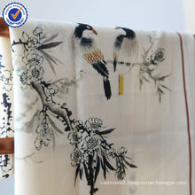 Gift Order Pure Mongolia Jacquard Chinese Traditional Painting Silk Wool Scarf SWW791