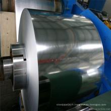 Prix inférieur 60g / 80g / 125g Zn Revêtement en tôle d'acier galvanisé