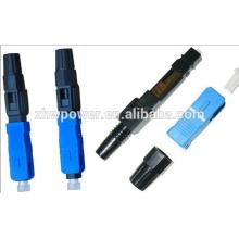Conector rápido de fibra óptica SC / APC, conector rápido de montaje SC, conector óptico rápido SC / UPC