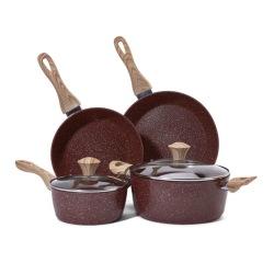 2019 amazon hot sell cookware 6sets for 28cm,24cm deep fry pan 24 cookpot 18milk pot